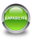 Capability glossy green round button. Capability isolated on glossy green round button abstract illustration Royalty Free Stock Photo