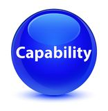 Capability glassy blue round button Royalty Free Stock Images