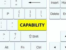 Capability yellow keyboard button. Capability isolated on yellow keyboard button abstract illustration vector illustration