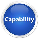 Capability premium blue round button. Capability isolated on premium blue round button abstract illustration Stock Photography