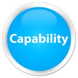 Capability premium cyan blue round button. Capability isolated on premium cyan blue round button abstract illustration Stock Photo
