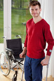 Capable disabled man standing Stock Image