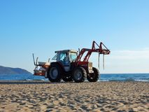 Capaccio - Tractor for the beach stock image