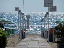 Capaccio - Beach walkway stock photography