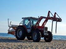 Capaccio - Tractor for the beach stock photography