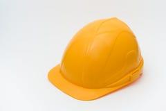 Capacete amarelo da segurança imagens de stock