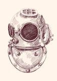 Capacete antigo dos mergulhadores Fotos de Stock Royalty Free