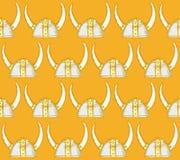 Capacete bonito de viquingue do esboço ilustração royalty free