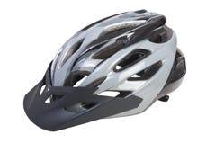 Capacete da bicicleta com a viseira no fundo branco Png disponível Fotos de Stock Royalty Free