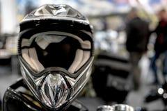 Capacete da motocicleta foto de stock