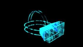 Capacete da realidade virtual dos vidros de VR ilustração do vetor