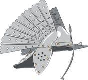 capacete de aço do cavaleiro do vetor Fotografia de Stock