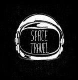 Capacete de espaço ilustração stock