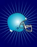 Capacete de futebol com vetor do fundo do starburst? Foto de Stock Royalty Free