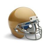 Capacete de futebol do ouro Foto de Stock Royalty Free