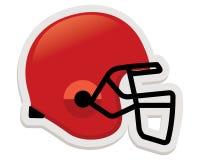 Capacete de futebol na cor vermelha Imagens de Stock Royalty Free