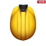 Capacete de mineiros clássico do vintage com lâmpada Vista superior Imagem de Stock
