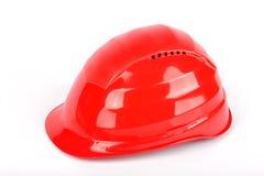 Capacete de segurança vermelho Imagem de Stock Royalty Free