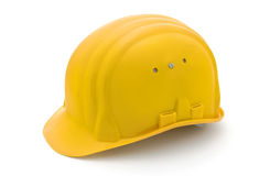 Capacete de segurança amarelo Foto de Stock Royalty Free