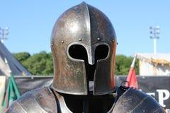 Capacete de um cavaleiro foto de stock