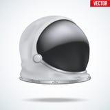 Capacete do astronauta com vidro da reflexão ilustração stock