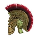 capacete do grego clássico da rendição 3D no branco Imagens de Stock