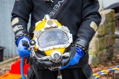 Capacete do mergulho Fotografia de Stock Royalty Free