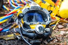 Capacete do mergulho Fotos de Stock Royalty Free