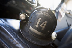 Capacete do sapador-bombeiro do vintage Foto de Stock