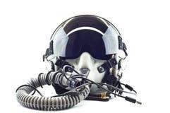 Capacete do vôo com máscara de oxigénio. Fotografia de Stock