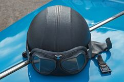Capacete do velomotor Foto de Stock Royalty Free