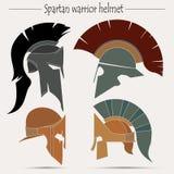 Capacete espartano do guerreiro Imagens de Stock Royalty Free