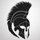 Capacete espartano do guerreiro Imagem de Stock