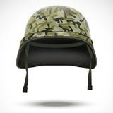 Capacete militar com vetor do teste padrão do camo ilustração stock