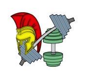 Capacete Spartan no equipamento do gym Imagem de Stock