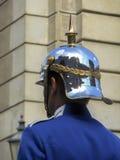 Capacete traseiro dos soldados em uma parada Fotografia de Stock Royalty Free