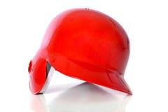 Capacete vermelho do basebol fotos de stock