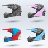 Capacetes abstratos ajustados da motocicleta Foto de Stock Royalty Free
