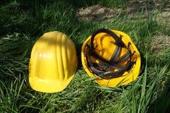 Capacetes da construção! Fotografia de Stock Royalty Free