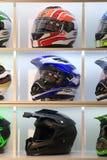 Capacetes da motocicleta Fotos de Stock Royalty Free