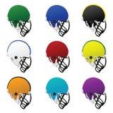 Capacetes de futebol Imagem de Stock