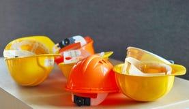 Capacetes de segurança Foto de Stock