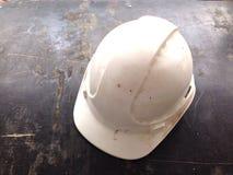 capacetes de segurança brancos Imagens de Stock