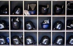 Capacetes do basball de Mets Fotografia de Stock
