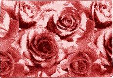 Capacho de lã de Rose Flower Floral Pattern do rosa fotografia de stock royalty free