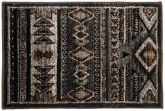Capacho multicolorido do vintage de lã de Grey Black Mottled fotografia de stock royalty free