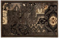 Capacho multicolorido do vintage de lã de Grey Mottled fotografia de stock royalty free