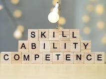 Capacidad de la capacidad de la habilidad, concepto de las citas de las palabras del negocio foto de archivo libre de regalías