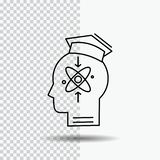 capacidade, cabeça, ser humano, conhecimento, linha ícone da habilidade no fundo transparente Ilustra??o preta do vetor do ?cone ilustração stock