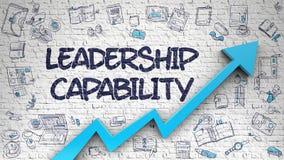 Capacidade da liderança tirada em Brickwall branco 3d ilustração do vetor